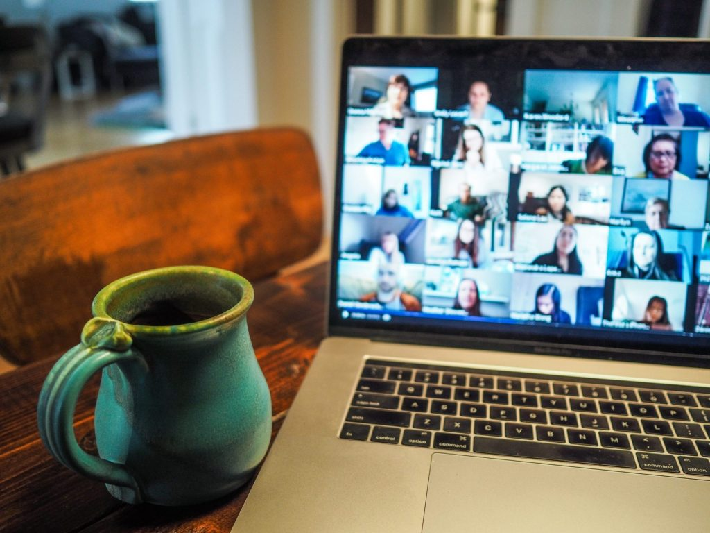 webinar on laptop screen